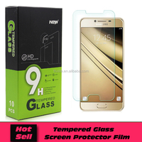 Free shipping 9H Hardness Tempered Glass Screen Protector For Samsung Galaxy C7