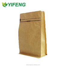 500g Kraft paper Square Bottom Box Bags with Vivid Printing