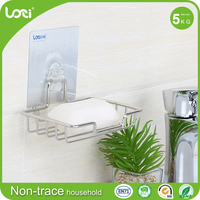 Wall soap plate stainless steel soap dishes for showers