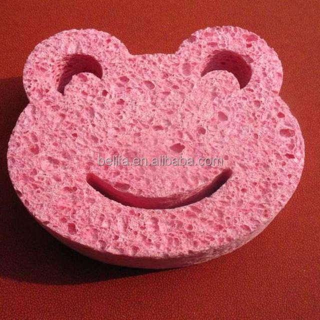 soild color smiling frog cellulose sponge,melamine sponge,foam sponge