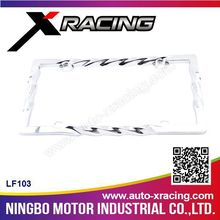 XRACING-2015(LF103) tree Chrome Zinc Alloy License Frame/Metal License Plate Frame