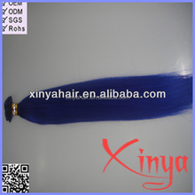 I-tip/Stick-tip Human Hair Extension,stick tip Keratin pre bonded human hair extension,blue color i tip hair