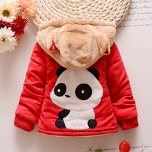 TC11029 Hot sales cute baby faux fur padded coat latest fanshion thick warm hooded baby winter coat