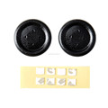 Black Project Design Enhance XB Flat Buttons for Xbox One Wireless Controller