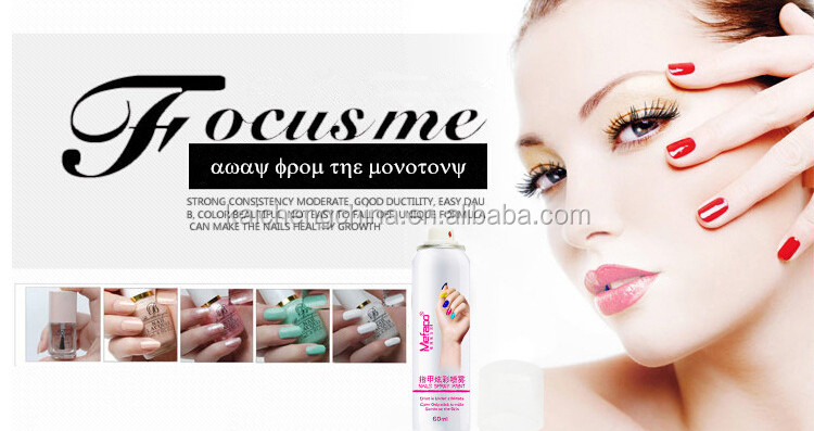 Top quality fast drying organic polish nail color spray