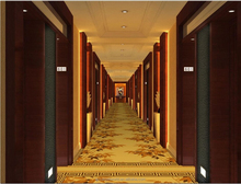Yellow bamboo printed partten commercial carpet for corridor