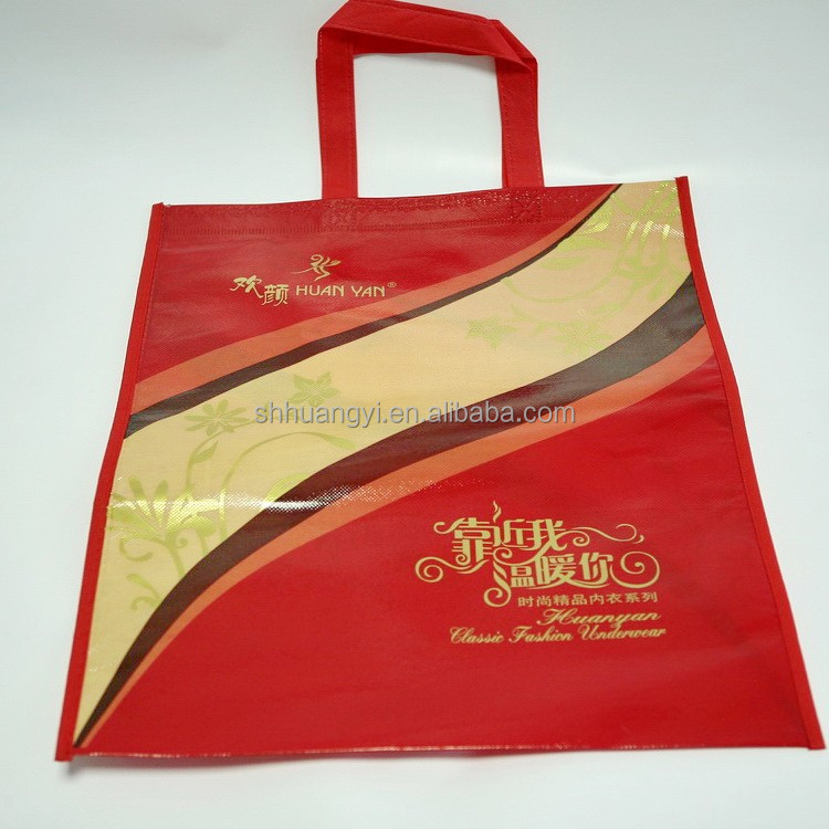 non woven fabric bags for shopping long handle non woven cloth bags