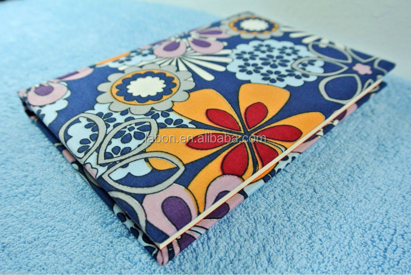 Diary Paper Notebook Sketch Writing Journal Fabric Hard Cover