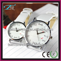 Classical couple watch with newly designed pattern Japanese movement young boy and young girl watches