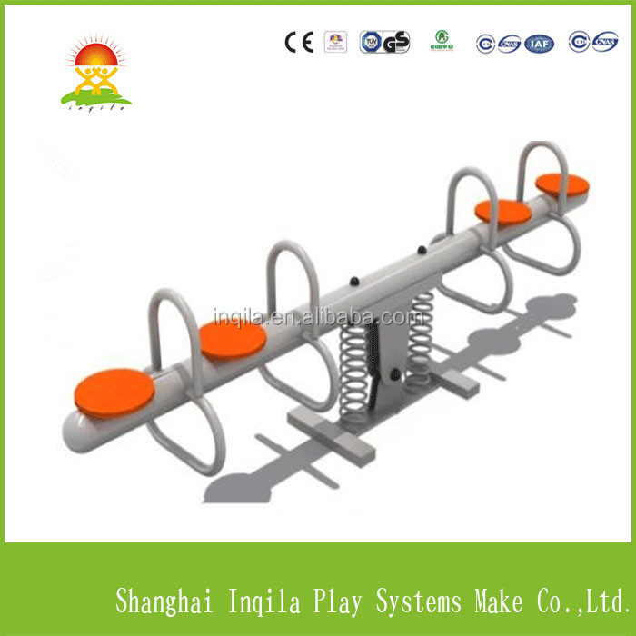 outdoor playground toys kids metal seesaw