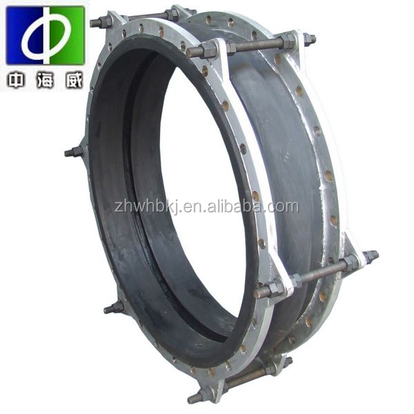 durable heat resistant floating carbon steel flanged drilled din iso std nbr rubber expansion joints