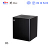 Realan elegant aluminium mini itx desktop computer pc case E-D3 with expansion slots (black silver red gold)