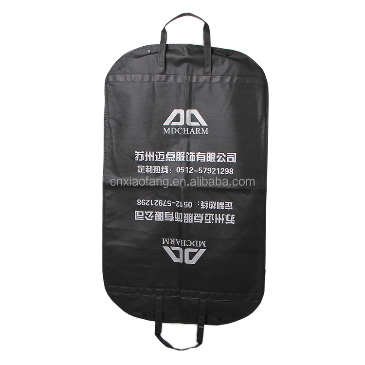 custom print non woven foldable garment bag