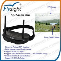 B735 5.8Ghz FPV HDMI PIP Diversity Glasses For RC Trailer Aluminum Wheel Truck Glider Plane