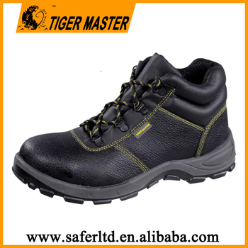 Genuine leather PU sole steel bottom safety shoes