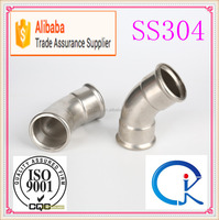 Stainless Steel 45 Degree Elbow Pipe Fitting Support