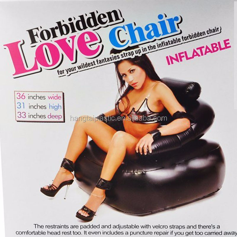 phthalate-free PVC Inflatable Cradle Padded Bondage Chair Sofa with Adjustable Wrist Restraints and Leg Restraints
