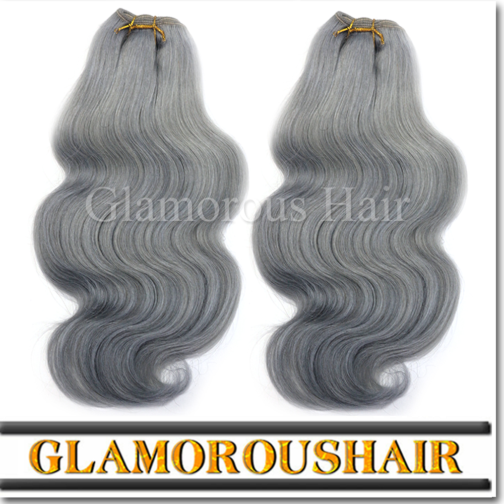 New Arrival 7A Grade Top Quality Virgin Hair Products 100% Brazilian Hair Grey Body Wave