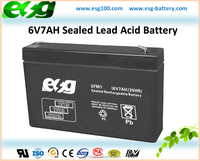 6V7AH Portable Electric Appliance Valve Regualted Lead Acid AGM Battery