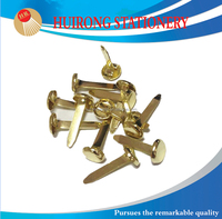 25mm Golden metal Paper Fastener Brads for children DIY accessory