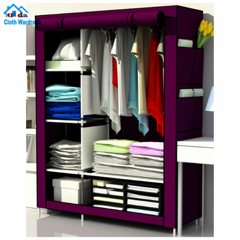 Small stable Oxford cloth portable fabric wardrobe with cover cloth wardrobe