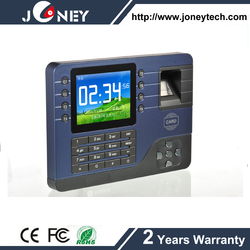 3.2 inch TFT Screen Biometric Fingerprint Time Attendance with software