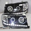 2006-2007 For TOYOTA Land cruiser LC100 4700 FJ100 LED Head Lamp Angel Eyes Black Type
