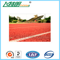 Breathable Running Track Surfaces Outdoor Rubber Safety Surfacing UV - Resistance