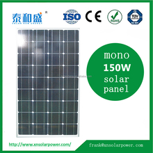 Monocrystalline Silicon Material and 156*156mm Size 18v 140W 150W 160w solar panel For Home Use