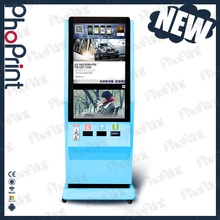 standing photo booth hashtag print kiosk machine advertising on printing photos