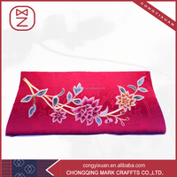 Pink hand embroidered rose evening bag trachten bag manual fancy gift bag for women