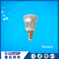 Chinese factory price E14 aluminum r39 r50 r63 r80 led bulb 3w led light with CE ROHS approval