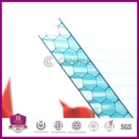 Best price 4-wall Lexan polycarbonate honeycomb sheet