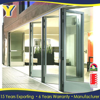 exterior impact folding glass doors / USA market double glazed lowes prices patio accordion glass doors