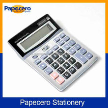 12-digits Electronic Office Use Desktop Promotion Plastic Calculator Electron and Solar Prower