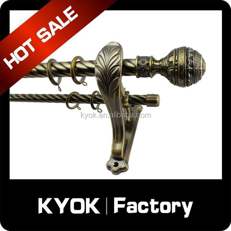 "KYOK Better Homes and Gardens Cage 5/8"" Decorative Drapery Rod finials , Oil-Rubbed Bronze curtain rod finials"