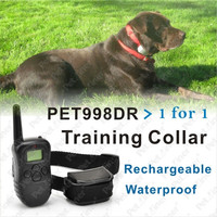 100 level Rechargeable Waterproof Shock Vibrate Remote Dog Pet Training Collar