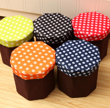 Hot Sale Dot Small Folding Seat Storage Stool