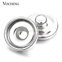 12mm Metal Snap Button Base Edged Interchangeable Jewelry Accessory Ginger Snap Button (VG-192)