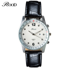 Best price hot selling mens watches 2016 fashion big dial leather band timepieces for men
