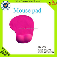 Custom pink silicone wrist rest support mouse pads