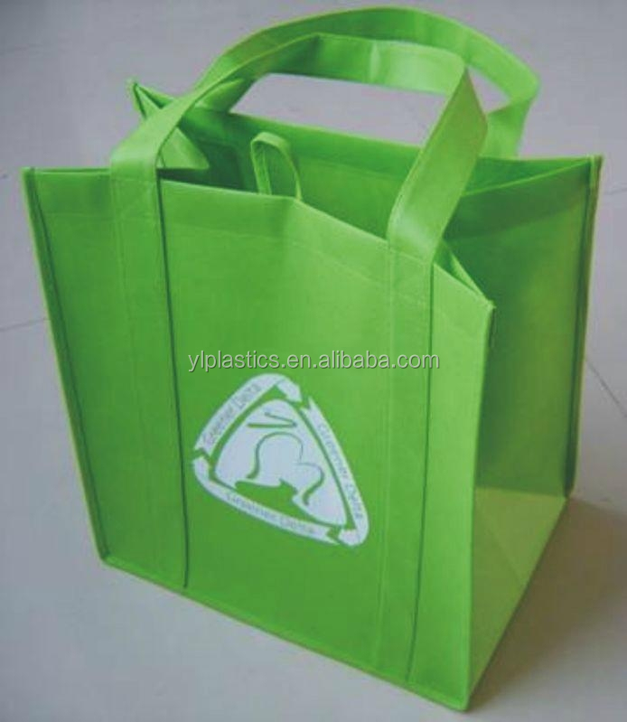 pp stitched non woven bag handle sewing logo printing promotional bag non woven bags