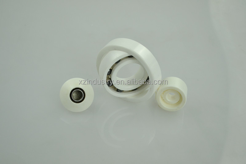 3 x 10 x 4 zirconia hybrid full ball double row angular contact ceramic bearings