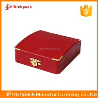 Customized Red Plastic Box With Key Lock,Jewelry Box Hardware