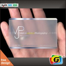 Customize Design Clear Plastic Cards / Transparent Business Card Printing
