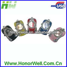 OEM High Quality Colorful Car Watch Jewelry USB Flash Memory 4GB with Key Chain