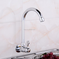 FUAO Single handle High Qualty Brass Chrome kitchen sink cold water tap