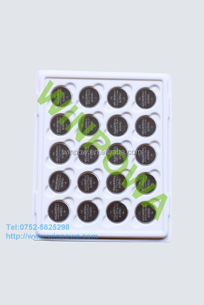 high voltage 3v 75mah lithium manganese button cell battery
