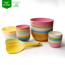 Durable food storage container Fruit Salad Noodle Bamboo Fiber Bowl