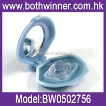 mini snore stopper with contact gel ,H0T041 snore free anti snoring nose clips sleep apnea aid/stop snoring clip